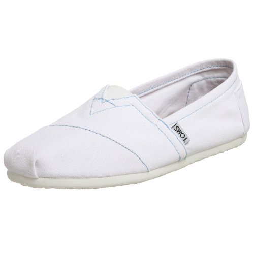 Toms Shoes Mens White Classic Espadrille Slip On Shoes White UK 10