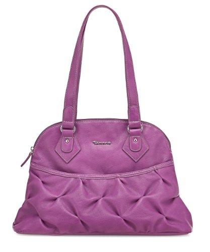 TAMARIS ESTER Handtasche, Henkeltasche mit Frontfach, Raffungen, 4 Farben: offwhite grau, orange, gelb oder flieder Flieder