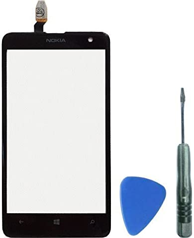 Nokia Lumia 625 touch screen digitizer with adhesive, tools and fitting instructions