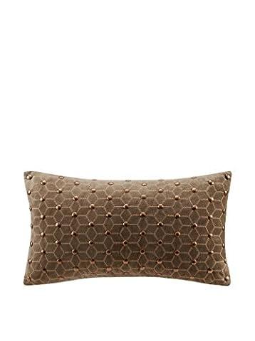 Metropolitan Home Wright Oblong Pillow, 12 x 22, Taupe by Metropolitan Home
