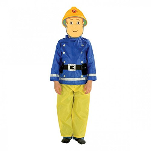Feuerwehrmann Sam Badetuch Kinder Kostüm Maske mit EVA Kostümparty - V25827