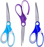 Scissors, ESEOE 3 Piece of Stainless Steel Scissors with Precision Cutting Blades (8 Inch)
