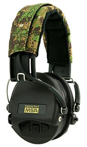 MSA Sordin Supreme Pro X Casques Anti Bruit Electronique | ACE-Edition (Green Camo, Capsules Noires) | Protection Auditive | Actif | pour la Chasse et Les Tireurs Sportifs | + AUX
