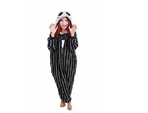 Für Nightmare Kostüme Christmas Kinder Before (mcdslrgo Unisex-Erwachsene Anime Cosplay Halloween-Kostüm Pyjamas Einteiler/Pyjama Nachtwäsche, KULUAO L (asiatische)