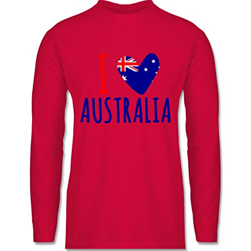 Shirtracer Love - I Love Australia - Herren Langarmshirt Rot
