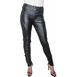 Alice By Temperley negro Agnes Piel y Jersey Skinny pantalones para todas las estaciones negro negro 40