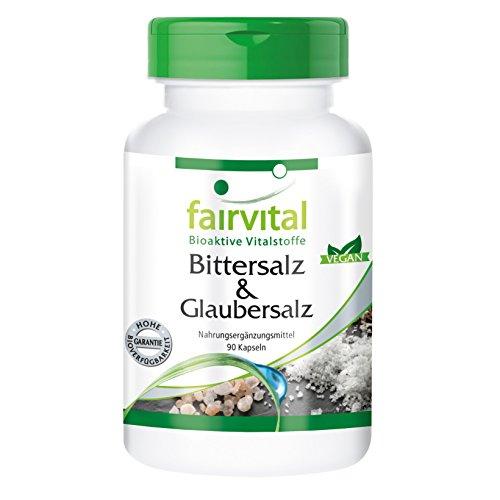 Bittersalz & Glaubersalz - VEGAN - 90 Kapseln - Magnesiumsulfat und Natriumsulfat