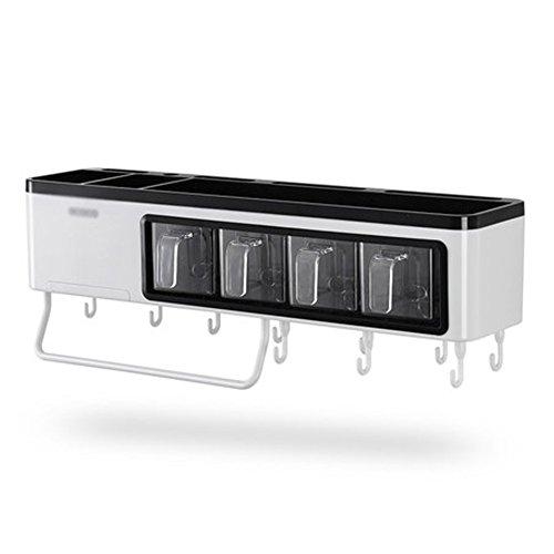 LUYIASI- Multifunktionale Küche Regal Wand montiert Messer Aufhänger Geschirr liefert Kunststoff-freie Stanzen Würzen Regal (50x11.8x11cm) Shelf