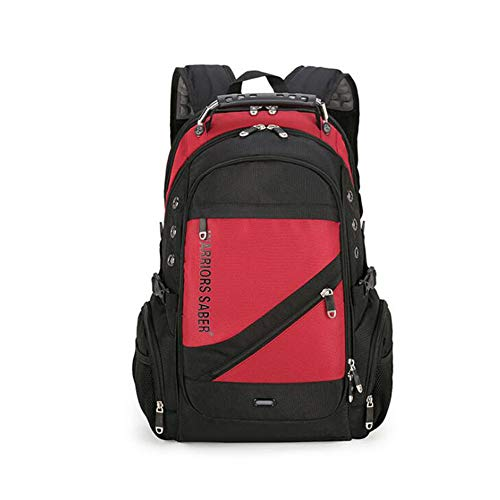 FENGFENGGUO Rucksack, Sabre Multifunktionsrucksack USB-Diebstahlschutzrucksack Laptoptasche Wanderrucksack Reise Outdoor Freizeittasche,Red (Sabre Red-home)