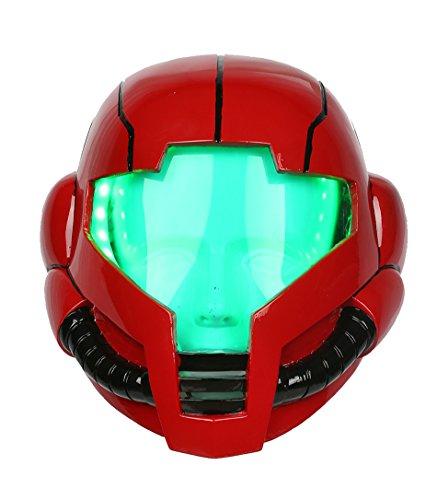Halloween Cosplay Spiel Sturz Helm Erwachsene Deluxe Rot weichen Harz Full LED Licht Kopf Maske Fancy Dress Merchandise (Für Halloween-spiele Erwachsene)