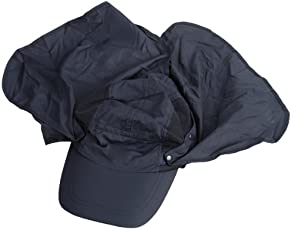 Generic 360-degree Outdoor Jungle Hat Shawl Neck Sun Protection Hat w/ Face Protection - Dark Blue