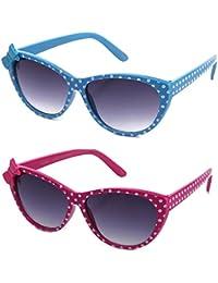 Newbee Fashion - Kids Polka Dot Cute Bow Fashion Sunglasses For Kids Lead Free - B06XKR6K5J