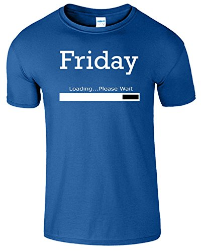 Friday Loading Weekend Frauen Der Männer T Shirt Royablau / Weiß Design
