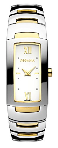 Rodania Swiss-Orologio da donna al quarzo con Display analogico e braccialetto in acciaio INOX Two tone RS2503680