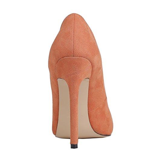 EKS , Chaussures à talons femme Orange-Suede
