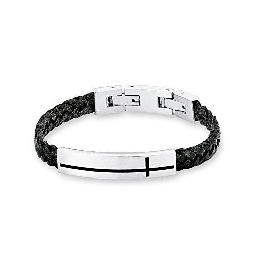 s.Oliver Kinder-Armband Edelstahl Leder  20 cm - 542432