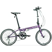 Monociclos Bicicleta de Carretera Bicicleta Plegable Bicicleta Unisex de 20 Pulgadas de Viaje Ultraligero Bicicleta portátil (Color : Purple, Size : 150 * 32 * 107cm)
