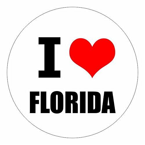 I love Florida Tallahassee in 2 Größen erhältlich Aufkleber mehrfarbig Sticker Decal