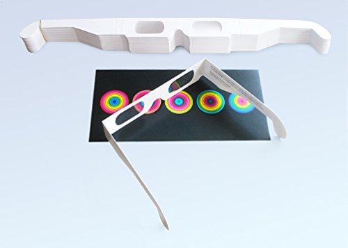 50 Stück ChromaDepth 3D-Brille HD (größerer Betrachtungsabstand)