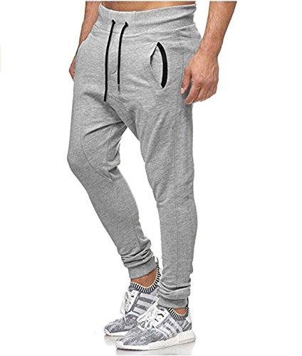 QINPIN Mode Männer Individuelle Casual Sporthosen Weiß 3XL