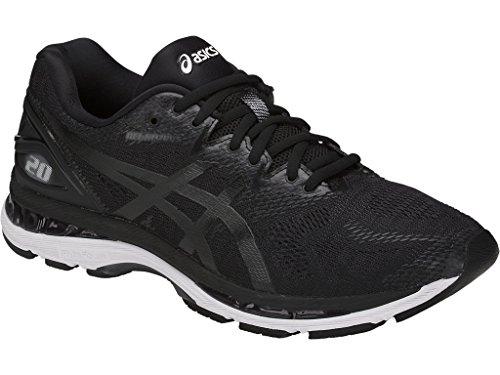 Preisvergleich Produktbild ASICS Men's Fitness/Cross-Training Trail Running Shoe, Black/White/Carbon, 12.5 4E US
