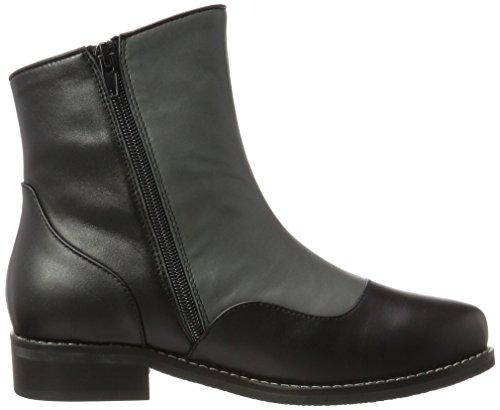 Lola Ramona Damen Chelsea Boots Schwarz (Black/Grey)