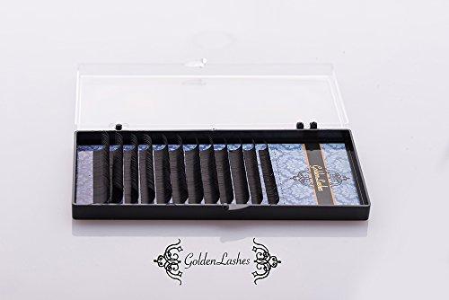 Golden Lashes Silk D-Curl Mix 8-15mm Spess. 0.07mm Ciglia Finte Extension Ciglia Trucco Luxury