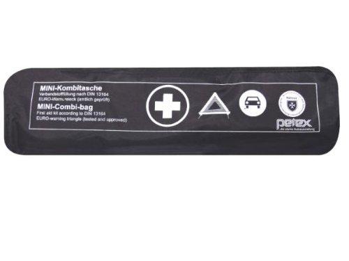 Preisvergleich Produktbild PETEX 43999704 Kombitasche p l u s mit Klettband best. aus EURO-Warndreieck, Verbandstofffüllung und Sicherheitsweste, schwarz