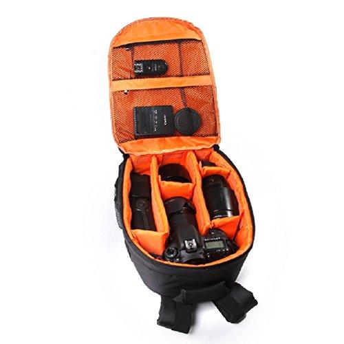 Malloom® Mochila Para Cámara Réflex Digital Bolsa caso Impermeable con mosquetón para Canon