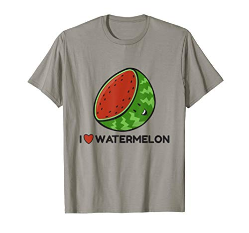 Wassermelone Bekleidung (I Love Watermelon Fruit Lovers Wassermelone T-Shirt)