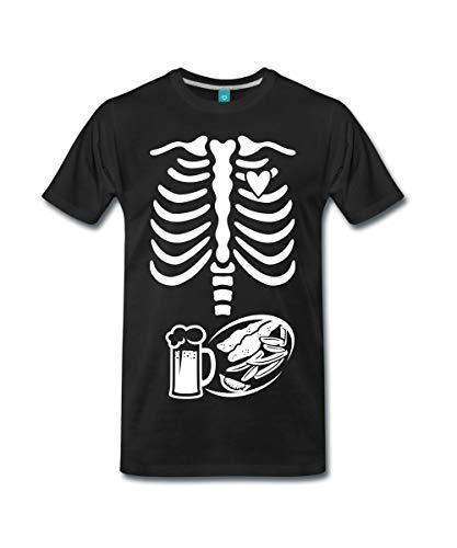Spreadshirt Schwangerschaft Skelett Papa Männer Premium T-Shirt, XL,