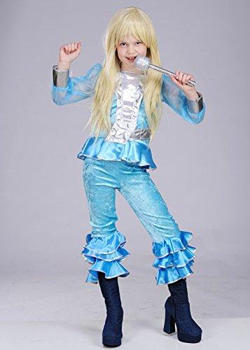 Los niños de los 70 Abba azul chica traje XL (EU176 15-16yrs)