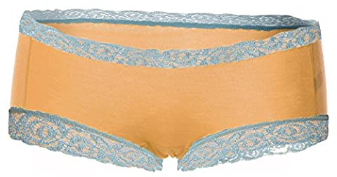 Fempool Women Soft Lace Panties Underwear Transparent Knickers Breathable (1 or 2 Pack) (M, orange 1 pack)
