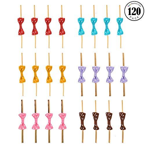 120 Stück, mit Schleife, für Kuchen, Pop, Musik, Cello Tasche, Lollipop Geschenk-Krawatte ()