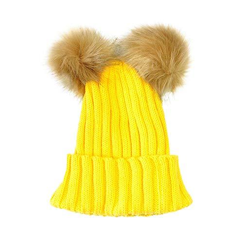 d90a609368b3 Chapeau Enfant ADESHOP Mode Enfants Mignons Enfants Coton BéBé Hiver  Chapeau Hiver Chaud Double Bonnet De