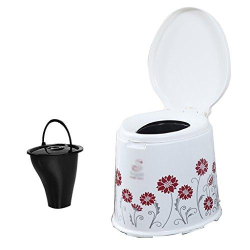 MyAou-commode Camping léger et Portable Toilette Voyage Camping Randonnée Pique-Nique Festival en Plein air (Couleur : Rouge)