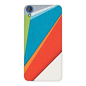 Delighted HexCol Pattern Multicolor Back Case Cover for HTC Desire 820