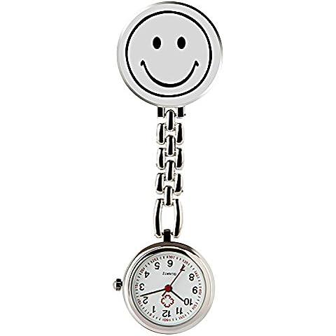 HIwatch Orologio Sorriso Digitale Analogico Orologio Lapel da Tasca per l'infermiera