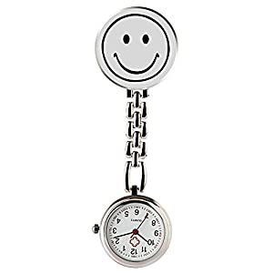 Hiwatch Pocket Watch for Nurses Smile Digital Analog Lapel Pocket Watch