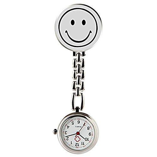 Einfache Spa-pflege (Hiwatch Krankenschwester Lächeln Analog Revers Taschenuhr mit Klammer)