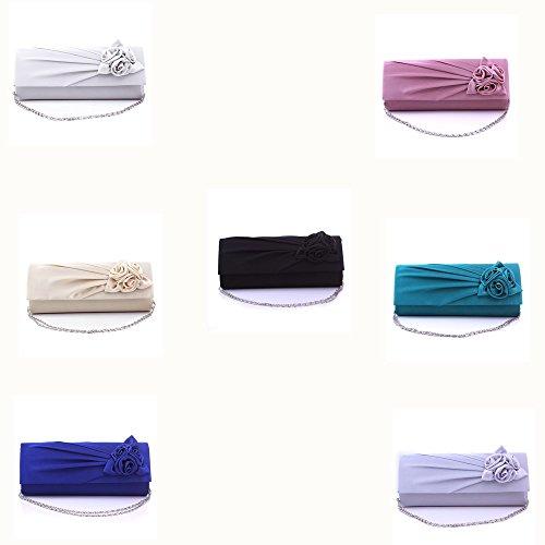 BAITER bella serata moda borsa di alta qualità pochette per feste e matrimoni - Blu