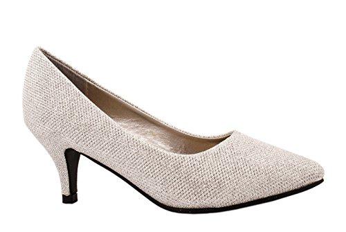 Pompe Da Donna Elara A Punta | Scarpe Eleganti Tacchi Argento