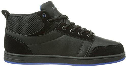 KangaROOS Skye Unisex-Kinder Sneakers Schwarz (black/black/royal blue 522)