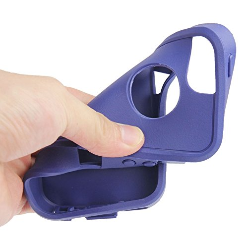 Proteggi il tuo iPhone, Protezione di plastica + schermo + di caso di combinazione TPU per iPhone 5 e 5s & SE Per il cellulare di Iphone ( Colore : Viola ) Blu