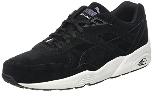 Puma R698 Allover, Baskets Basses Mixte Adulte Noir (Black/White/Black)