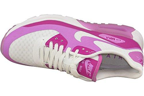 Nike Wmns Air Max 90 Ultra Breathe, Baskets Basses Femme Blanc-Violet