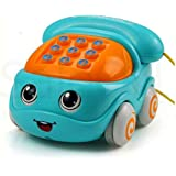 SaleON Friction Powered Pull Along Musical Phone Car Toy for Kids , Electronic Music Multifunctional Cell Phone…