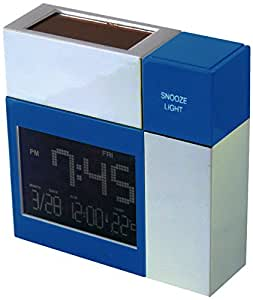 POWERplus Racoon Solar Powered Sound Activated Clock, Metal, Blue