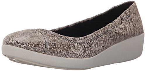 Fitflop F-Pop Leather, Ballerine Donna, Multicolore (Stone Pebbleprint), EU 38 (UK 5)