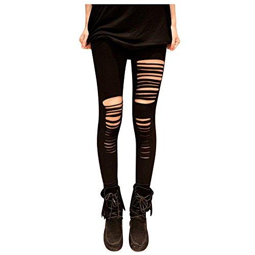 Punker Kostüm (PunkJewelry Fashion Leggings Ripped Zerrissen Look)